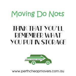 Do nots of Moving