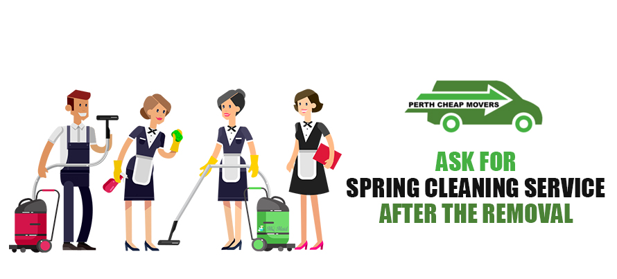 Ask for Spring Cleaning Service after the Removal