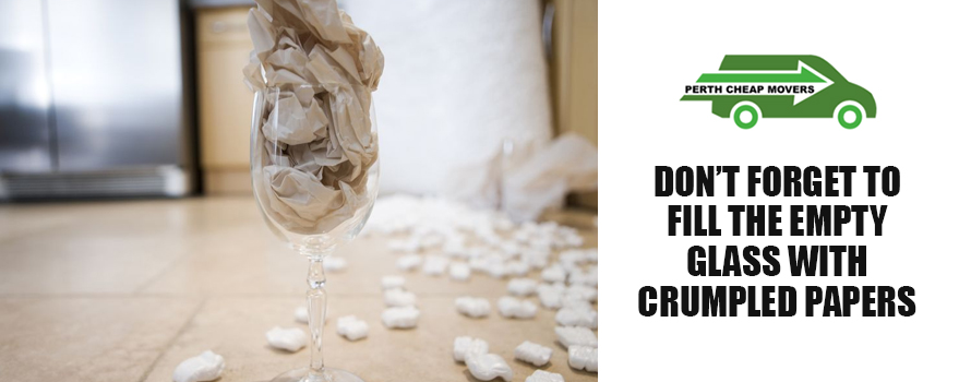 Fill Empty Glass with Crumpled Papers