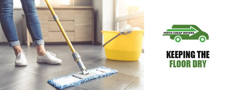 keeping the floor dry