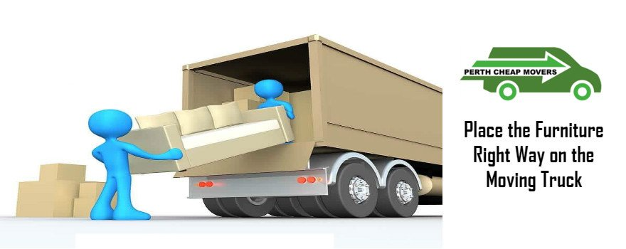 place furniture the right way on moving truck