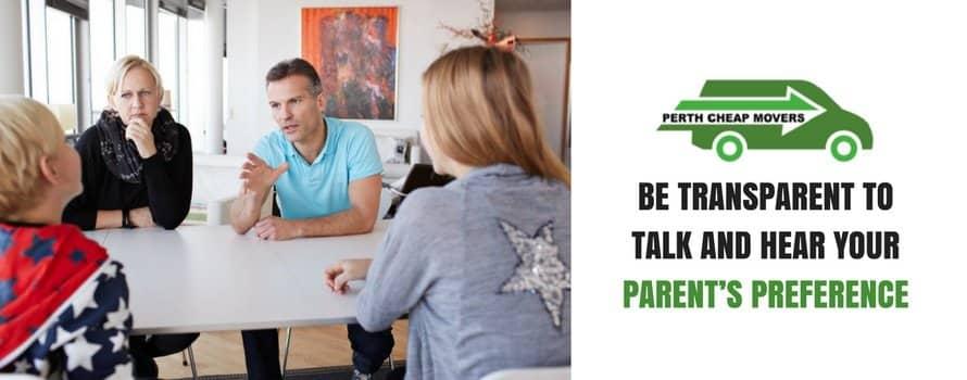 talk to parents