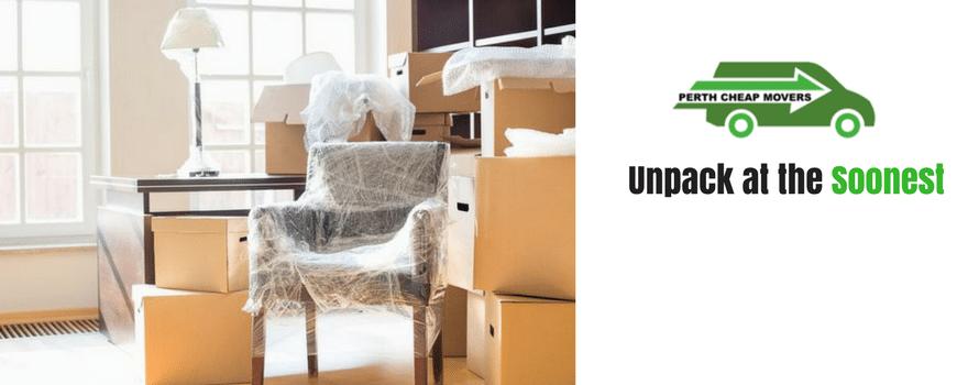 Unpack at the Soonest