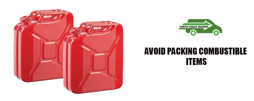 avoid packing combustible items