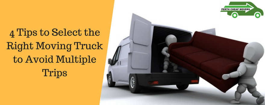 4 tips to select the right moving truck to avoid multiple trips
