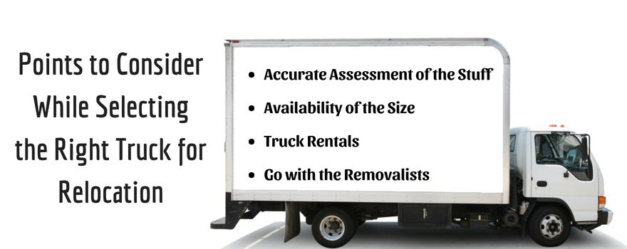 selecting the right truck for relocation