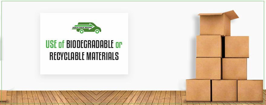 use of biodegradable materials